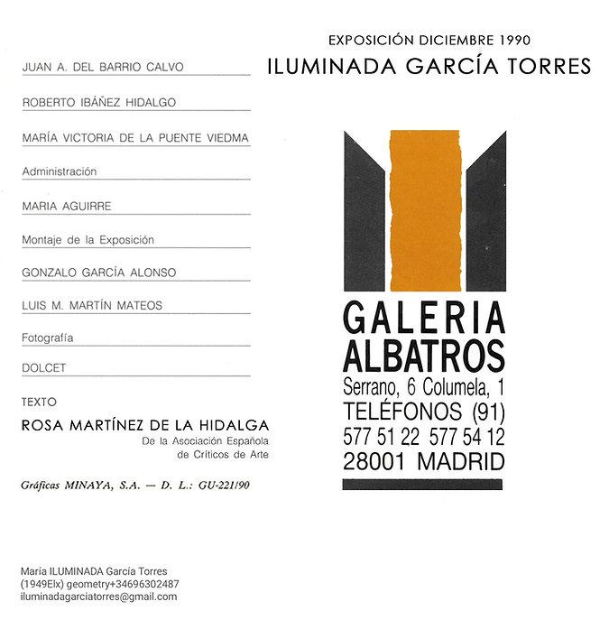 1990 datos exposición de ILUMINADA GARCIA-TORRES en Galería Albatros Madrid 1990-9.jpg