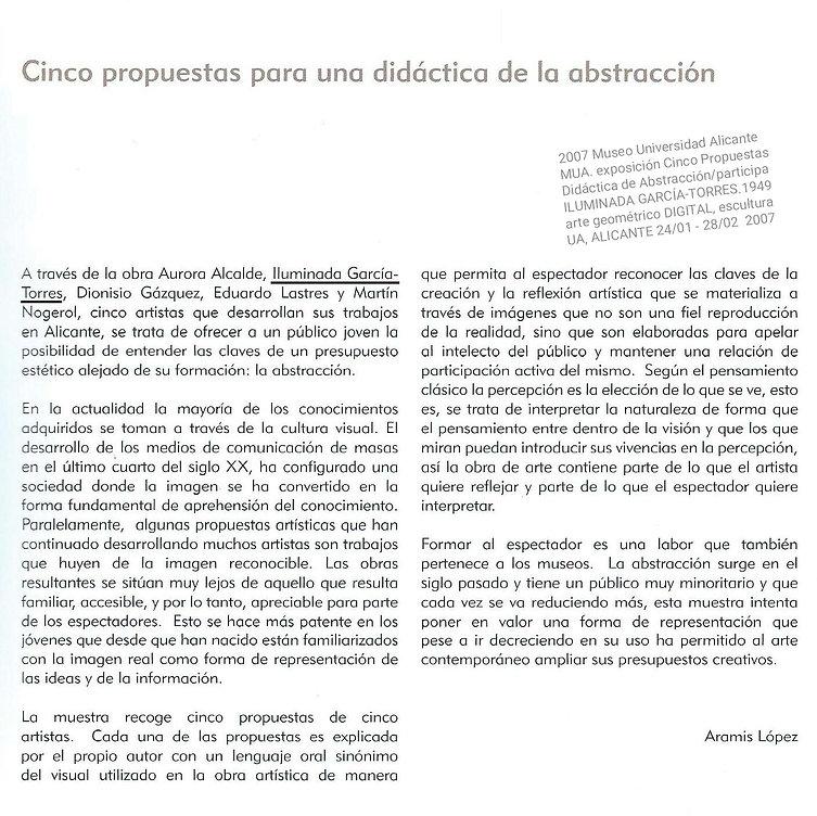 2007A.L. Museo Universidad Alicante MUA.