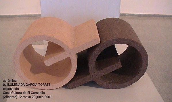 2001·cerámica by ILUMINADA GARCIA-TORRES exposición CasaCultura  El Campello. Alicante, ma