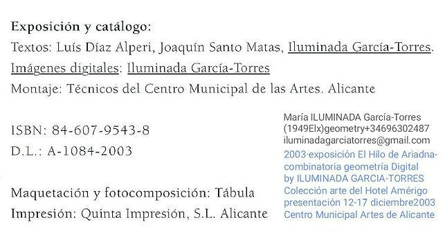 2003·datos (catálogo) Exposición El Hilo