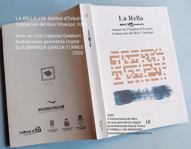 2005 La Rella18 texto arte LinoCabezas Gelabert 5geometrías Digitals de ILUMINADA GARCIA-T