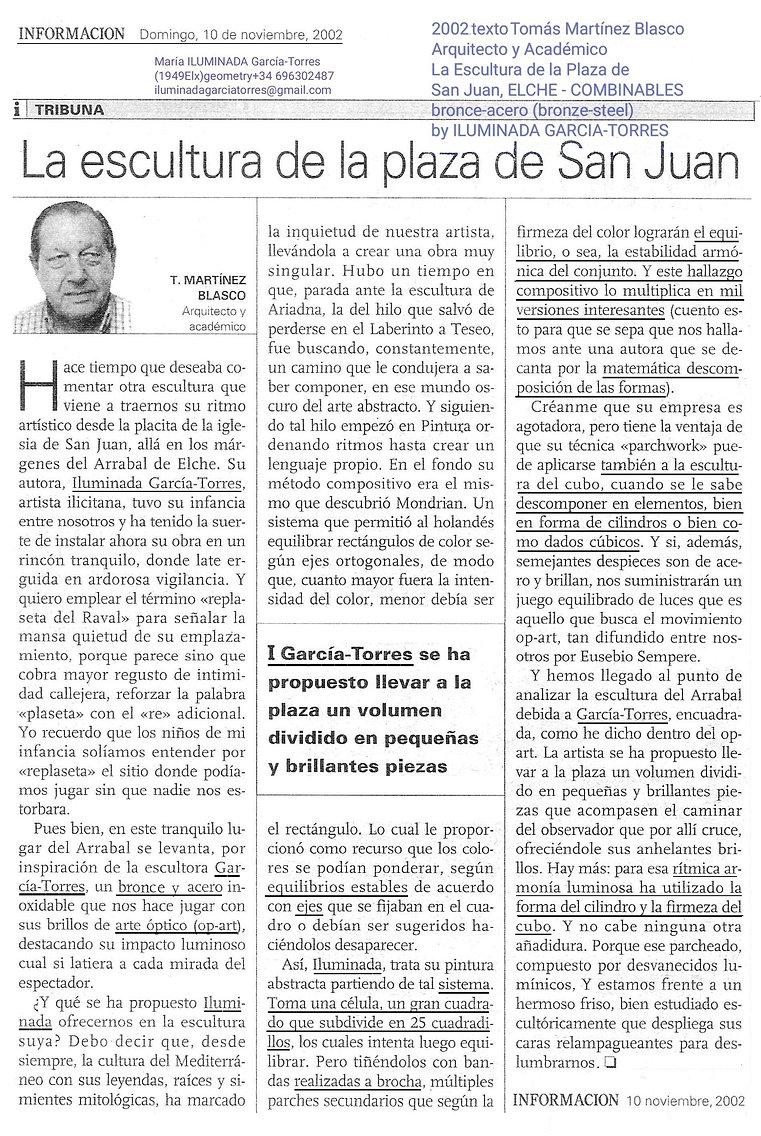 2002 texto Tomás Martinez Blasco escultu