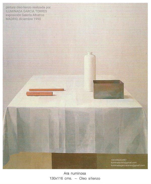 1990pintura Ara ILUMINADA GARCIA TORRES exposición Galería Albatros MADRID 1990. Retrospec