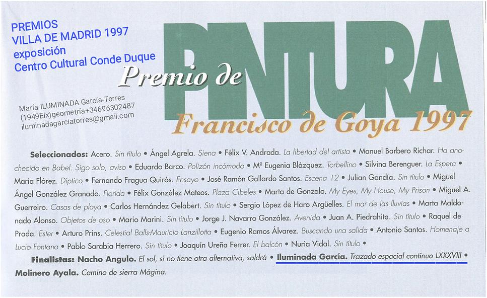 1997·PremiosVilla de Madrid Pintura by M