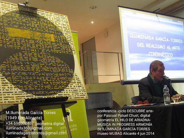 conferencia -ciclo DESCUBRE arte- por Pascual Patuel Chust, digital geometría EL HILO DE A