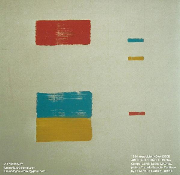 1994·Exposicion 40+ó- DOCE ARTISTAS ESPAÑOLES, geometría Trazado Espacial Continuo de Ilum