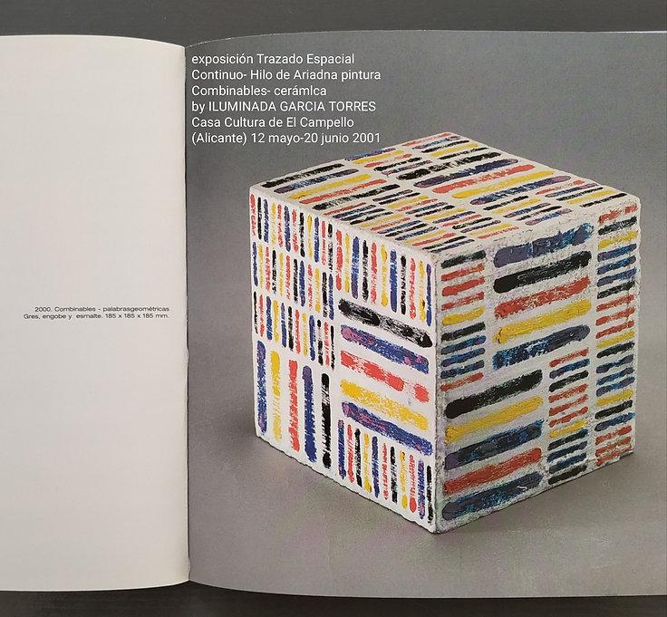 2001·cerámica lin by ILUMINADA GARCIA-TORRES catálogo y exposición CasaCultura  El Campell