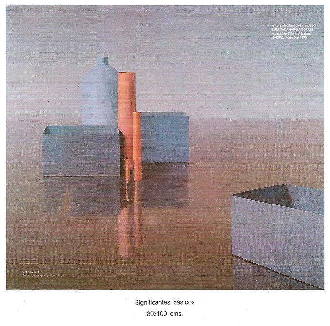 1990s.básicos catálogo exposición ILUMINADA GARCIA-TORRES Galería Albatros Madrid 1990 (6.