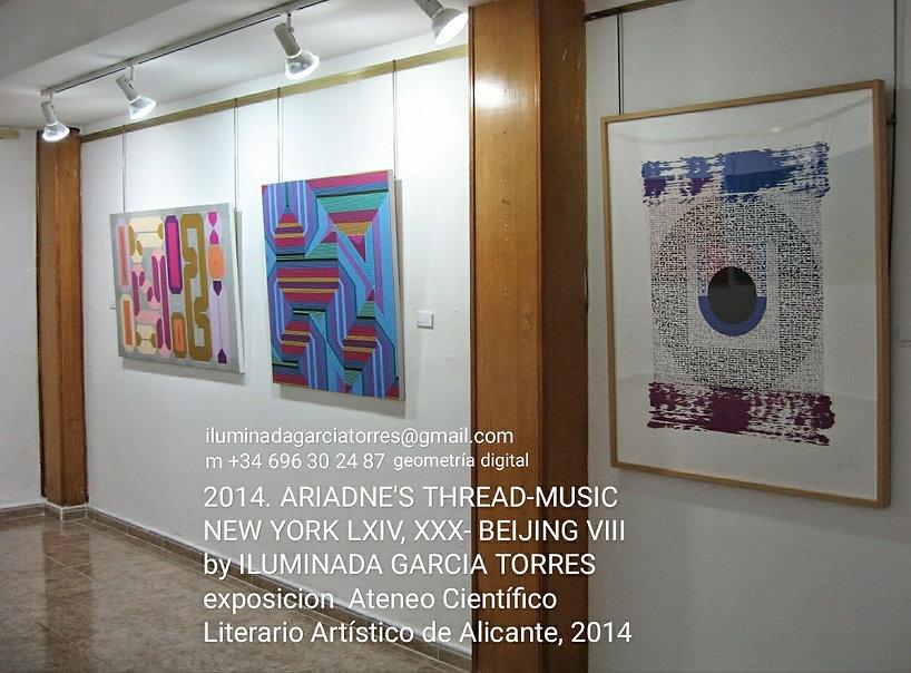 2014 Ateneo Científico Literario Artístico de Alicante, montaje  exposicion 2014 ARIADNE'S