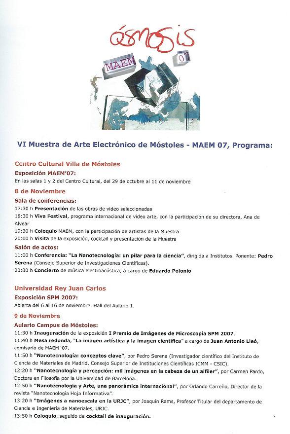 2007·programa_VI_Muestra_Arte_Electrónic