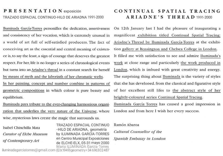2000 text London exhibitión TrazadoEspac