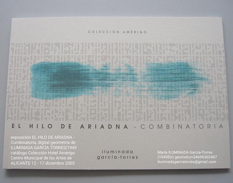 2003 exposición EL HILO DE ARIADNA - Com