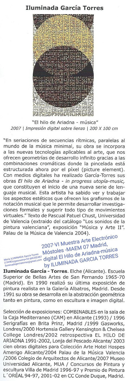 2007exposición VI Muestra arte Electróni