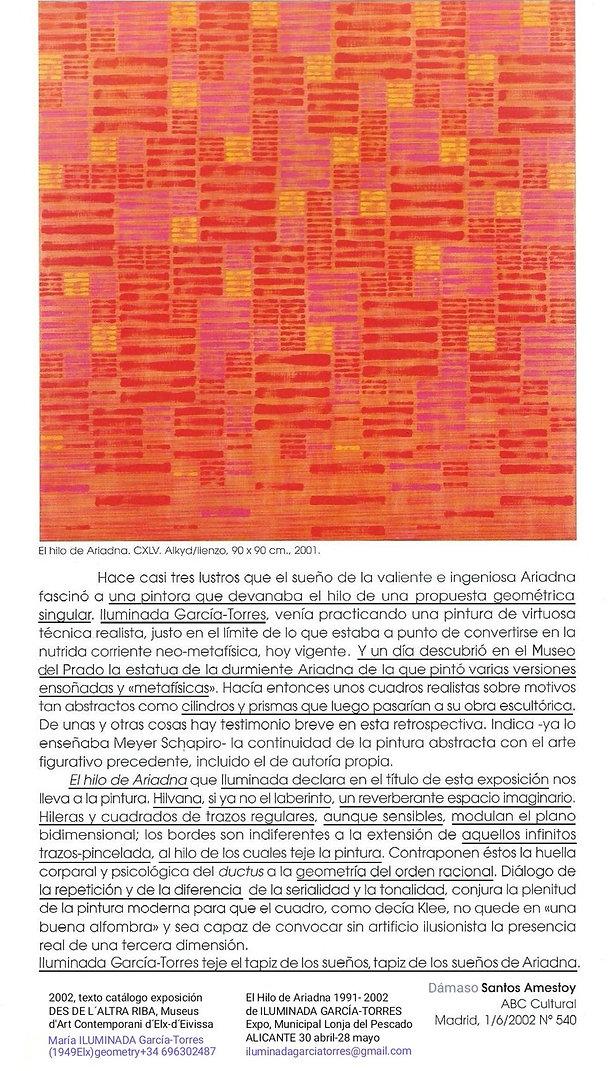 2002·textoDámaso SantosAmestoy. El Hilo