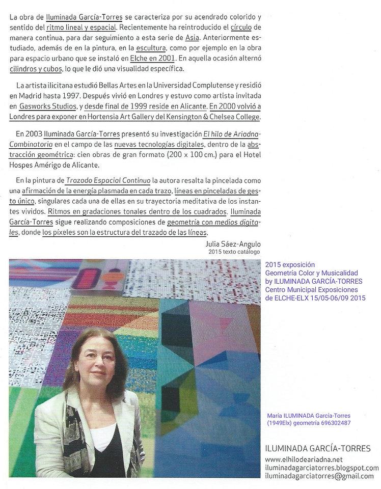2015·texto3 de Julia Sáez-Angulo catálogExposición de ILUMINADA GARCIA TORRES Centro Munic
