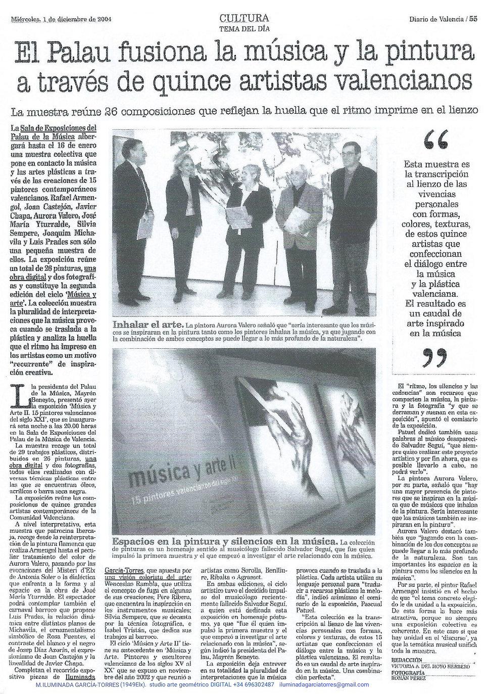 2004Diario de Valencia 1diciembre· PalauMúsica Valencia expoMUSICA ARTE II catalog46..jpg