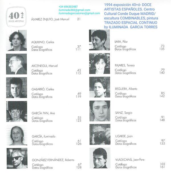 1994·Exposicion 40+ó DOCE ARTISTAS ESPAÑOLES arte geométrico pintura escultura de Iluminad