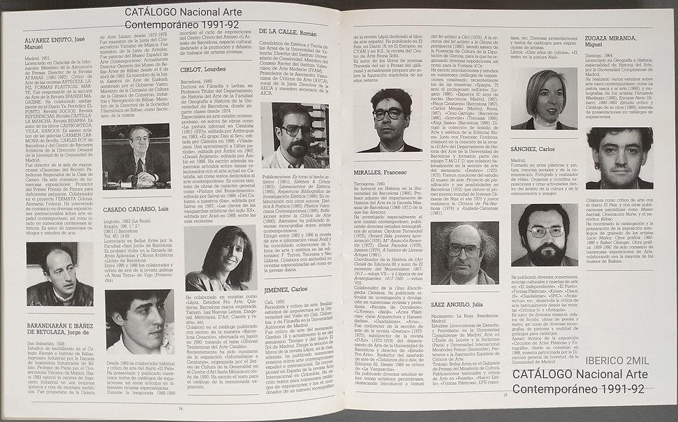 críticos arte. Catálogo Nacional Arte Contemporáneo 1991-92 .jpg