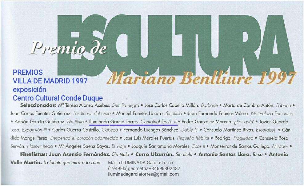 1997 Premios Villa de Madrid Escultura C