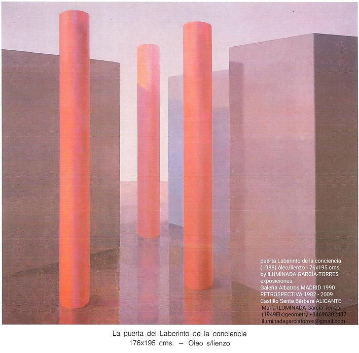 1990·Laberinto conciencia pintura by ILUMINADA GARCIA TORRES(1949Elx) exposición Galería A