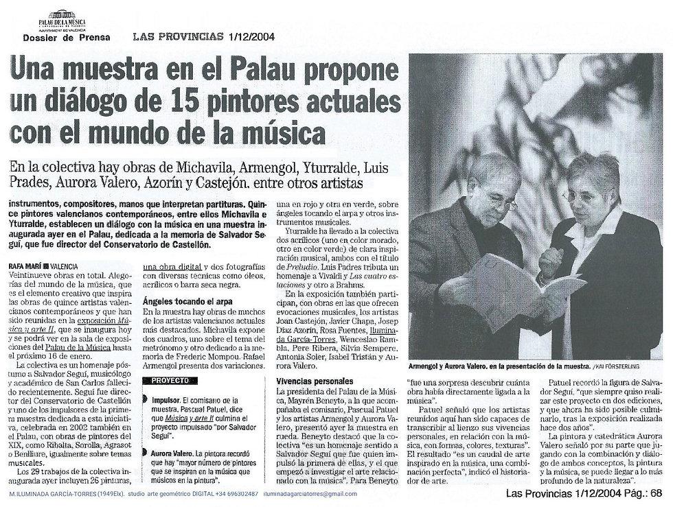 2004LAS PROVINCIAS 1diciembre· PalauMúsica Valencia expoMUSICA ARTE II catalog46(a) (3) .j