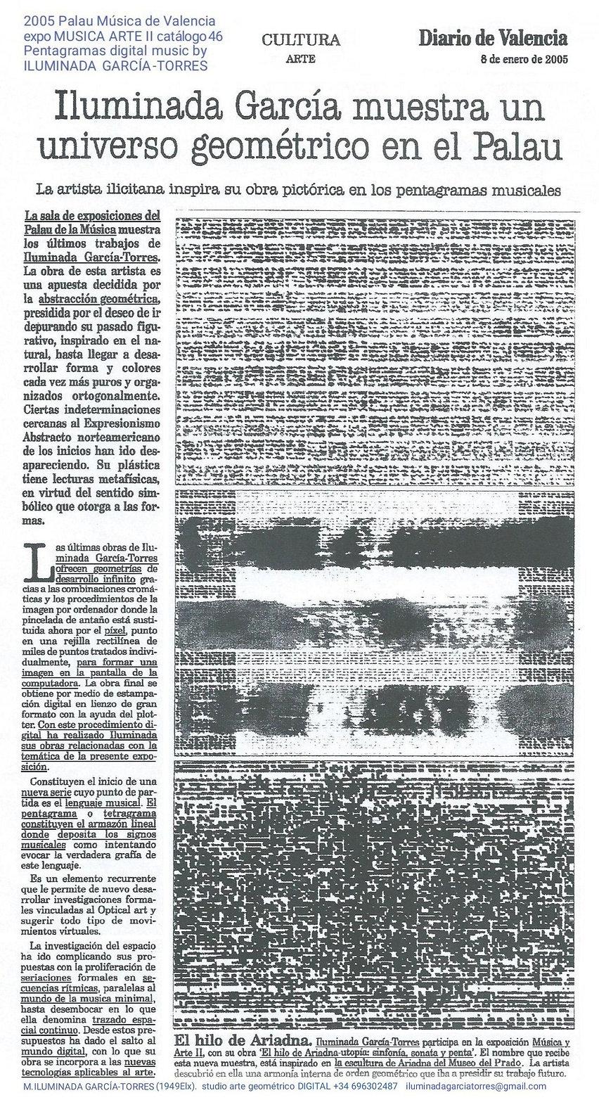2005 Diario de Valencia 8enero. PalauMúsica Valencia expoMUSICA ARTE II catalog46 (10).jpg