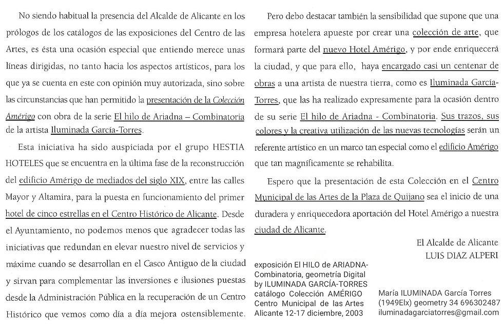 2003· El Hilo de Ariadna-combinatoria. t