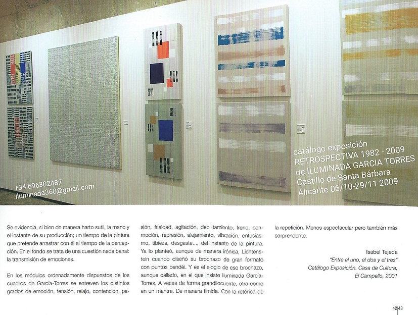 2009. Retrospectiva1982-2009MaríaILUMINA