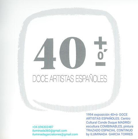 1994·José Manuel Alvarez Enjuto comisariado  Exposicion 40+ó- DOCE ARTISTAS ESPAÑOLES. art