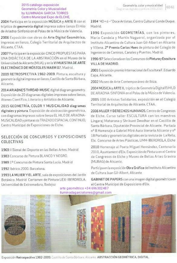 2015 catálogo exposición Geometría Color y Musicalidad  by ILUMINADA GARCIA TORRES Centro