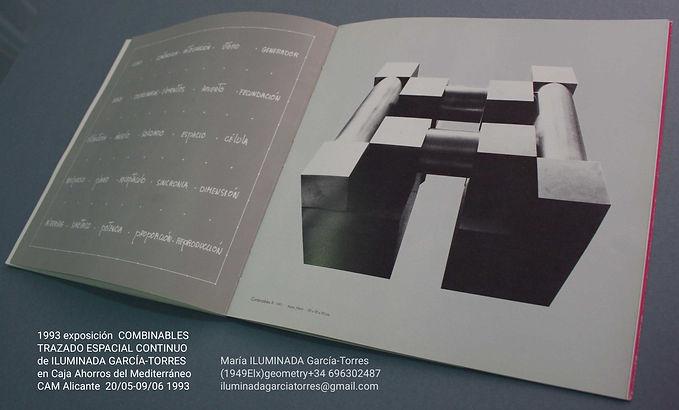 1993·catálogo COMBINABLES arte geométrico de ILUMINADA GARCIA-TORRES (1949Elx). expo CajaA
