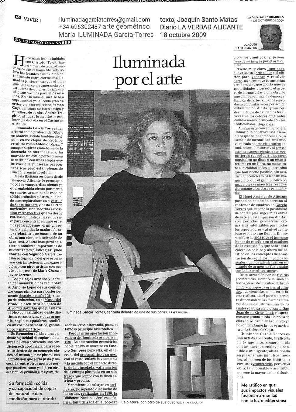 2009 texto Joaquín Santo Matas Diario LA