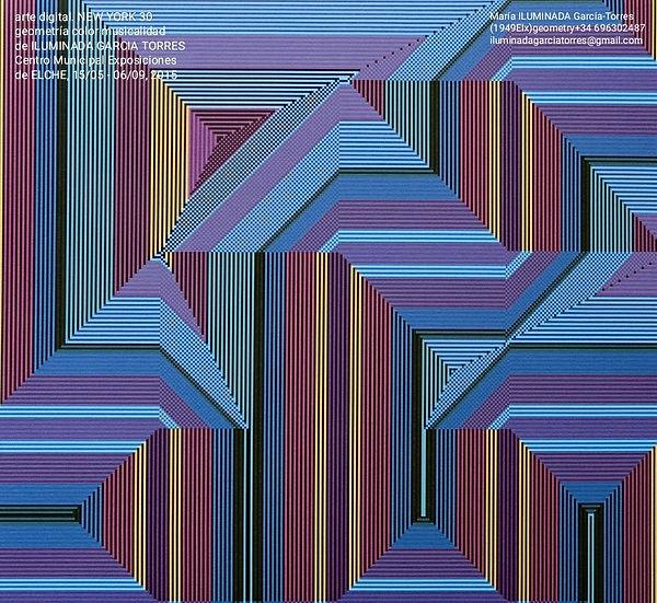 2014 c-printcanvas90x90cm, geometría digital Ariadne´s Thread-Music NEW YORK XXX by Ilumin