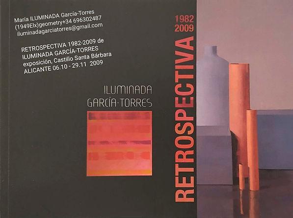 2009Retrospectiva 1982-2009 de ILUMINADA GARCÍA TORRES(1949) exposición Castillo Santa Bár