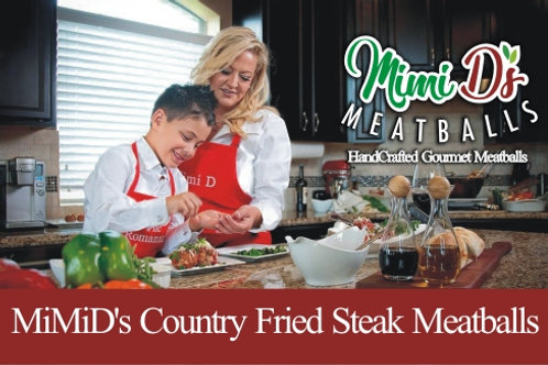 MiMiD's Country Fried Steak Meatballs
