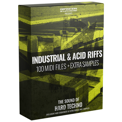 TLM MIDI #2 - INDUSTRIAL & ACID RIFFS  MIDI PACK + WAV SAMPLES