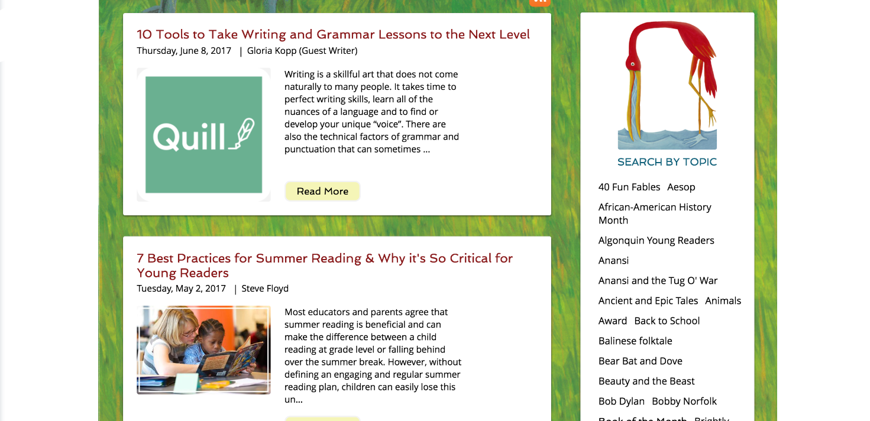 Screenshot of new August House website