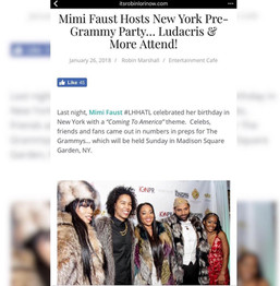 Robin Lori Attends and Features Mimi Faust Birthday Celebration