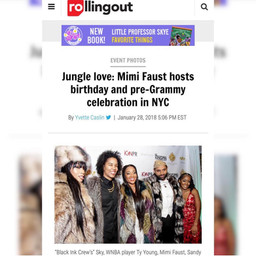 Rolling Out Features Mimi Faust Birthday Celebration