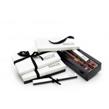 Boîte de deux (2) barrettes de chocolat