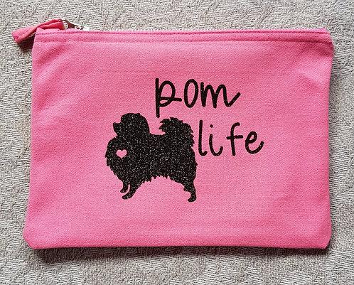 Dog Print Zip Pouch POM LIFE