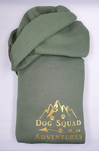Dog Squad Adventures Hooded Sweat KHAKI