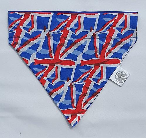 Allover Flag Print Over Collar Dog Bandana