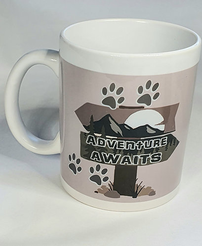 ADVENTURE AWAITS print Mug