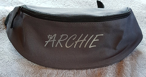 PERSONALISED dog treat bumbag DARK GREY