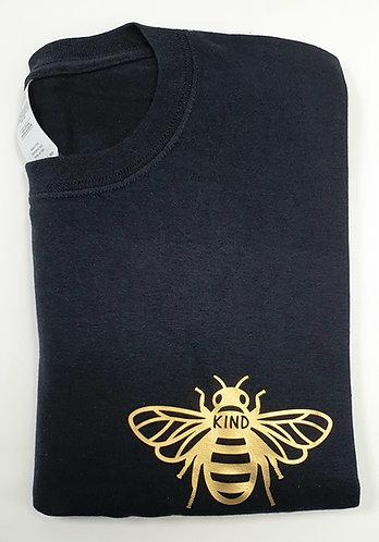 Personalised Bee Kind Tee BLACK