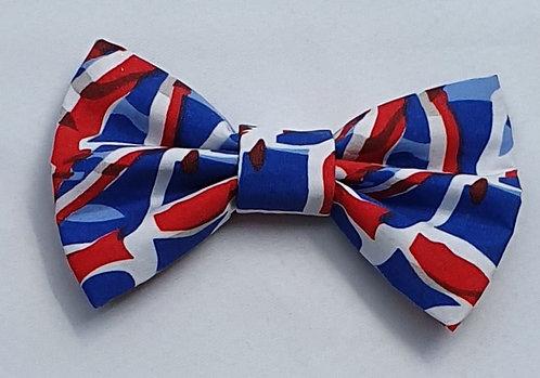 Allover Flag Dog Bow Tie