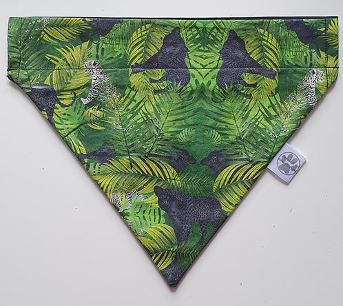 Jungle Leopard Exclusive D2P Print Over Collar Dog Bandana