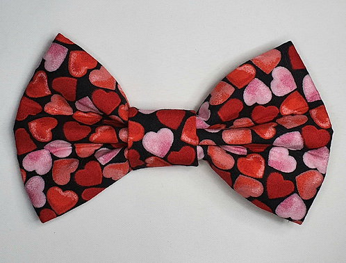 Hearts Dog Bow Tie