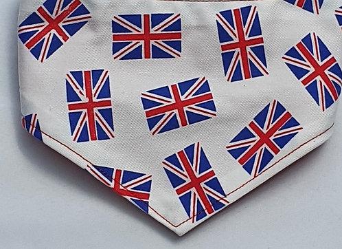 Mini Flags Print Over Collar Dog Bandana